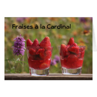Cartes Fraises cardinales