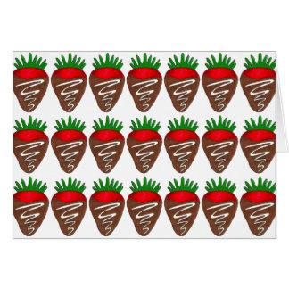 Cartes Fraises de chocolat du lait de heureuse
