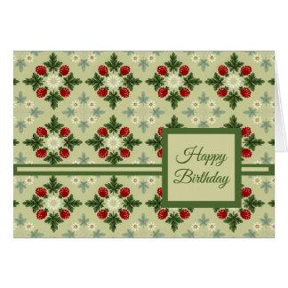 Cartes Framboises et fleurs
