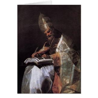 Cartes Francisco Goya- St Gregory le grand