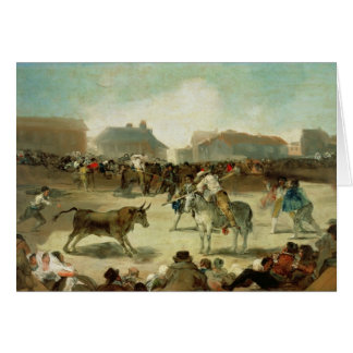 Cartes Francisco Jose de Goya | une corrida de village