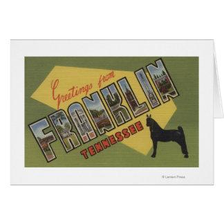 Cartes Franklin, Tennessee - grandes scènes de lettre