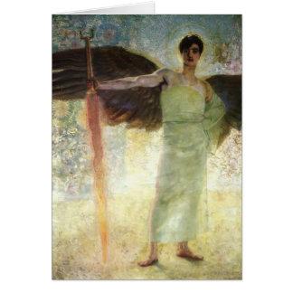 Cartes Franz a collé l'ange avec l'épée flamboyante