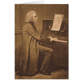 Cartes Franz Liszt au piano