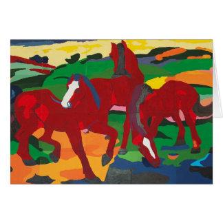 Cartes Franz Marc - chevaux rouges