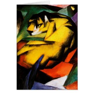 Cartes Franz Marc - tigre