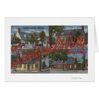 Cartes Fredericksburg, la Virginie - grandes scènes de