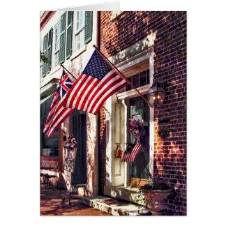 Cartes Fredericksburg VA - Rue avec les drapeaux