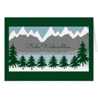 Cartes Frohe Weihnachten Grusskarte
