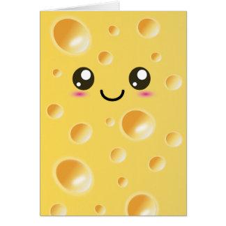 Cartes Fromage heureux mignon de Kawaii