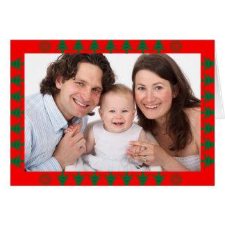 Cartes Frontière d'arbre de Noël avec la photo
