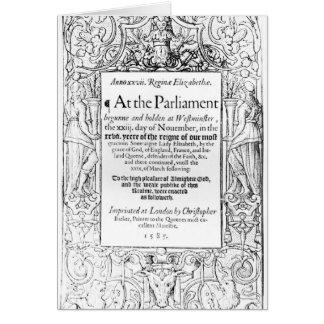Cartes Frontispice à un compte du parlement