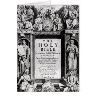 Cartes Frontispice 'au Bible saint