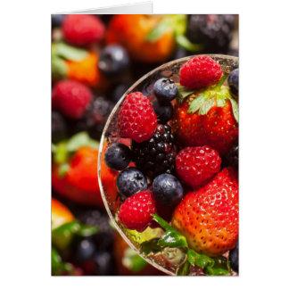 Cartes Fruit coloré