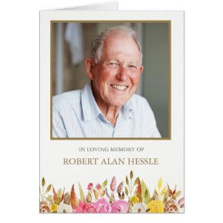 Cartes funèbres de Merci de sympathie florale