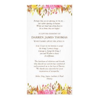 Cartes funèbres florales élégantes de Merci de Modèle Pour Photocarte
