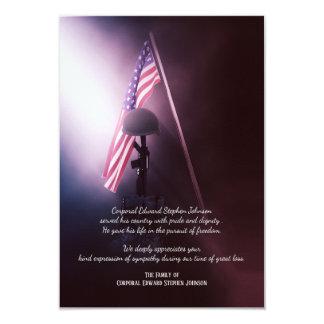 Cartes funèbres tombées de Merci de soldat