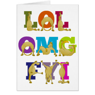 Cartes FYI OMG du poney LOL de Flexi de joyeux