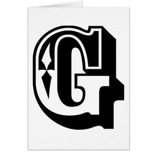 """Cartes """"G"""" est pour Gangsta - pièce en t de lettre"""