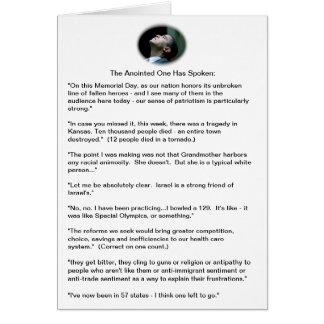Cartes Gaffes d'Obama - un échantillonnage