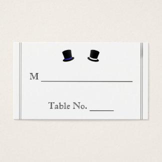 Cartes gaies bleues d'endroit de mariage de
