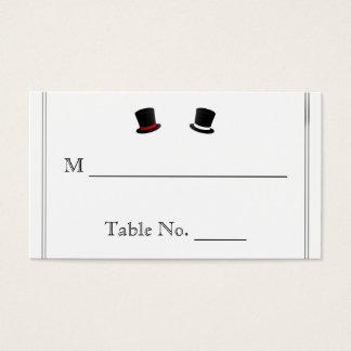 Cartes gaies d'endroit de mariage de casquettes