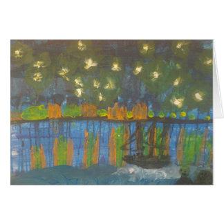 """Cartes Galerie de Smeraldo """" nuit étoilée sur le Rhône """""""