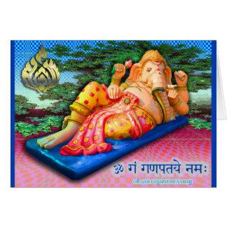 Cartes Ganesha étendu avec le cobra
