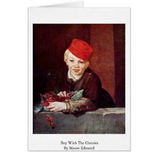 Cartes Garçon avec les cerises par Manet Edouard