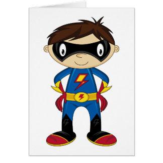 Cartes Garçon mignon de super héros