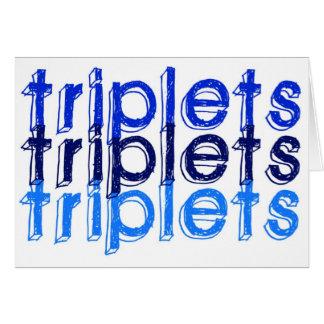 Cartes Garçons de triplet