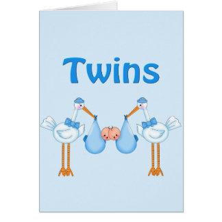 Cartes Garçons jumeaux