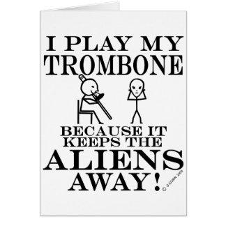 Cartes Garde le trombone parti d'aliens