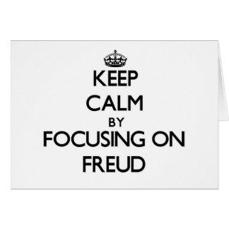 Cartes Gardez le calme en se concentrant sur Freud