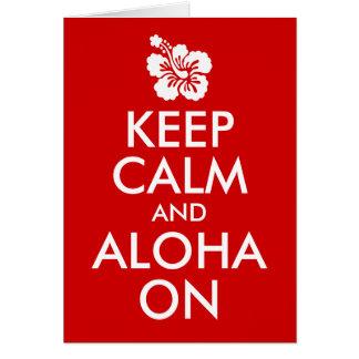 Cartes Gardez le calme et Aloha sur la ketmie