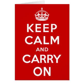 Cartes Gardez le calme et continuez