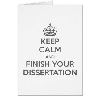 Cartes Gardez le calme et finissez votre dissertation