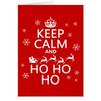Cartes Gardez le calme et Ho Ho Ho - Noël/Père Noël