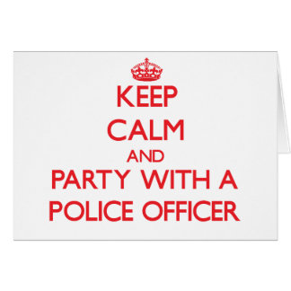 Cartes Gardez le calme et la partie avec un policier