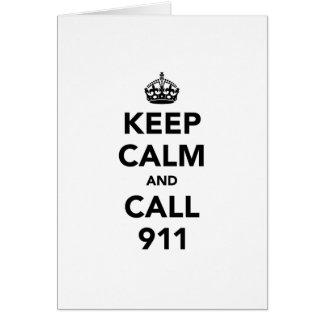 Cartes Gardez le calme et l'appel 911