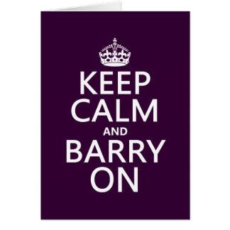 Cartes Gardez le calme et le Barry sur (toute couleur)