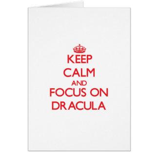 Cartes Gardez le calme et le foyer sur Dracula