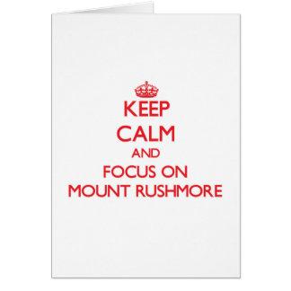 Cartes Gardez le calme et le foyer sur le mont Rushmore