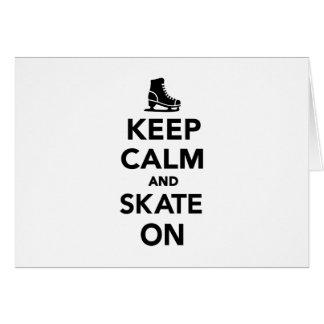 Cartes Gardez le calme et patinez dessus