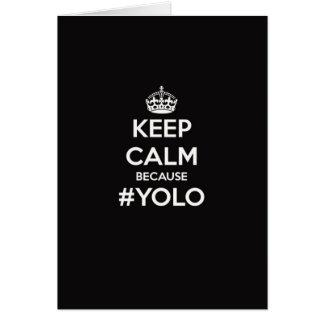 Cartes Gardez le calme puisque YOLO