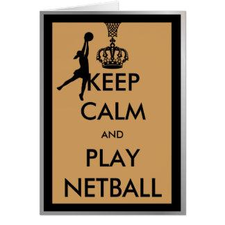 Cartes Gardez le net-ball de calme et de jeu