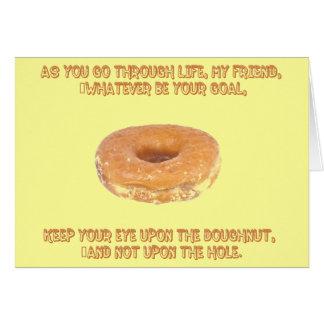 Cartes Gardez votre oeil sur le beignet