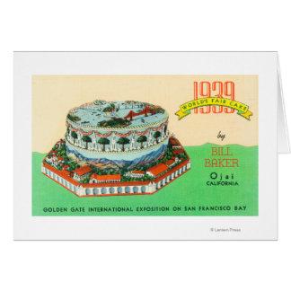Cartes Gâteau d'Exposition universelle 1939 par Baker de