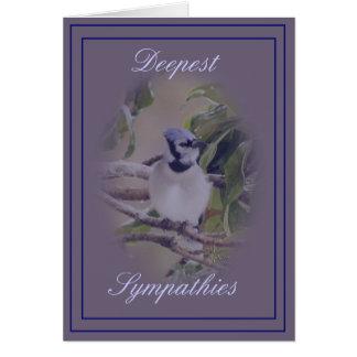 Cartes Geai bleu sur la personnaliser de lavendar- toute