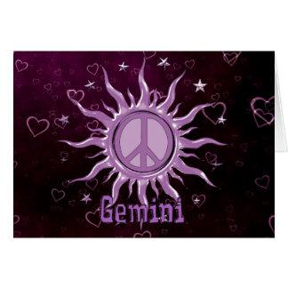 Cartes Gémeaux de Sun de paix